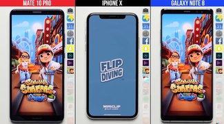 iPhone X, Galaxy Note 8 und Mate 10 Pro im Performance-Vergleich