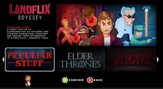 Game of Thrones und Co.: In Landflix Odyssey spielst du deine liebsten Serien nach