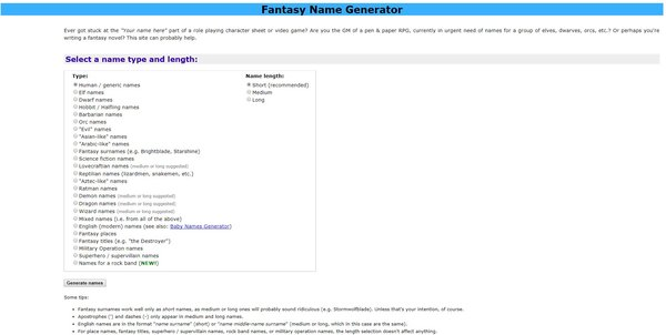 fantasy name gen die besten nickname generatoren - fortnite gamertags generator