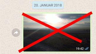 So löscht ihr WhatsApp-Bilder (Chat / Gruppe)