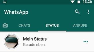 WhatsApp: Status-Bilder einfügen (Schritt für Schritt)