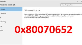 Lösung: Update-Fehler 0x80070652 (Windows 10)