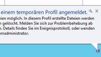 Windows 10: Temporäres Profil beheben – so geht's