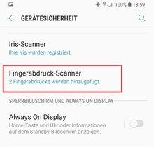 Samsung-Galaxy-Reihe: Fingerabdruck speichern