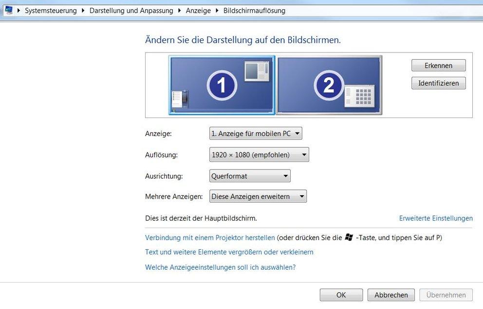 Bildschirm Duplizieren