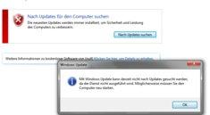 Lösung: Mit Windows Update kann derzeit nicht nach Updates gesucht werden (Update-Dienst wird nicht ausgeführt)