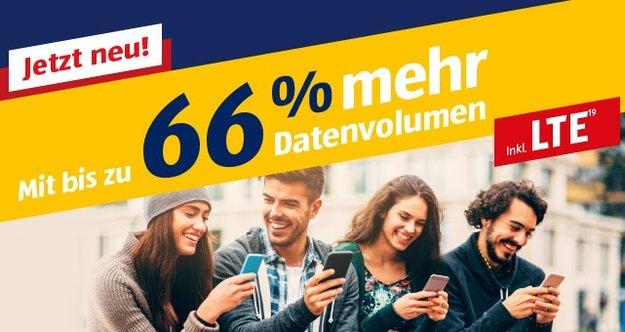 Aldi Talk: Tarifanpassung bringt bis zu 66&nbsp&#x3B;% mehr LTE-Datenvolumen – ohne Aufpreis