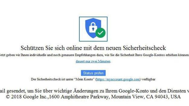 Google Sicherheitscheck: Spam oder echte E-Mail?