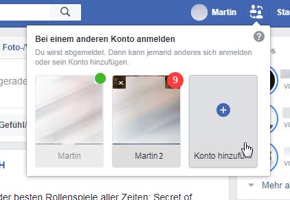bei facebook neu anmelden
