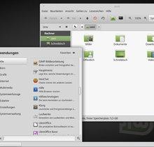 Desktop-Unterschiede von Linux Mint, Ubuntu, Manjaro und Debian