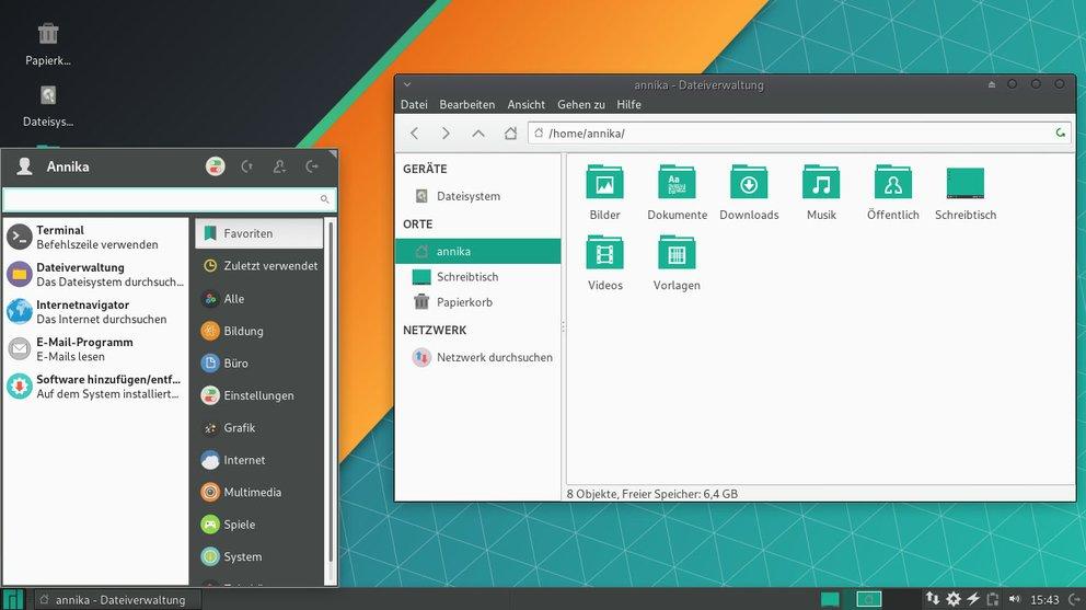 So sieht Linux Manjaro mit Xfce-Desktop aus