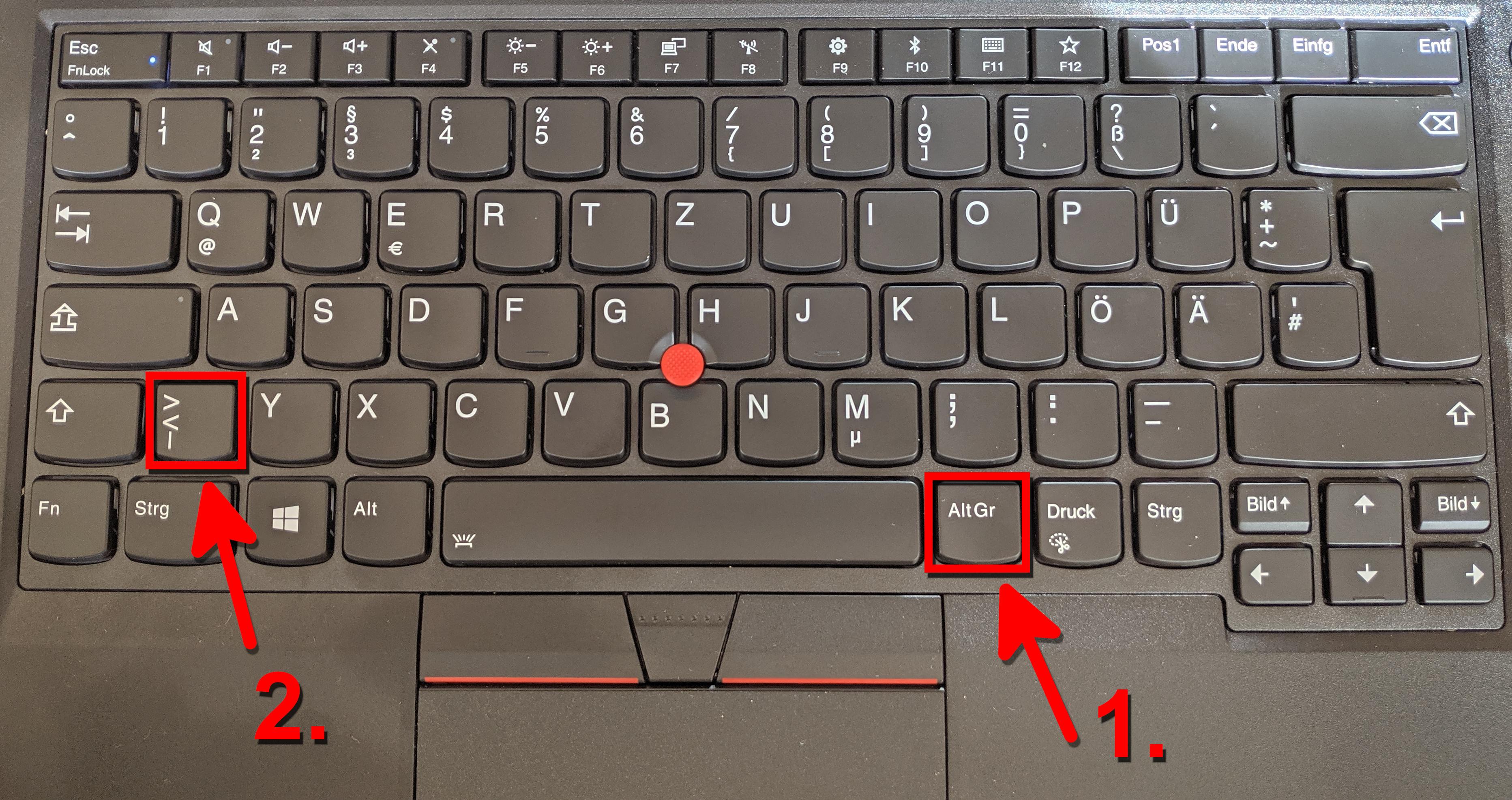 Senkrechter Strich Pipe Betragsstrich Auf Tastatur Schreiben