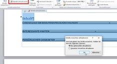 Word: Inhaltsverzeichnis aktualisieren – so klappt's