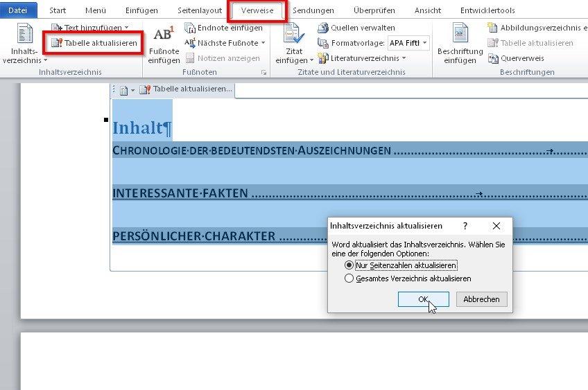 word-inhaltsverzeichnis-aktualisieren