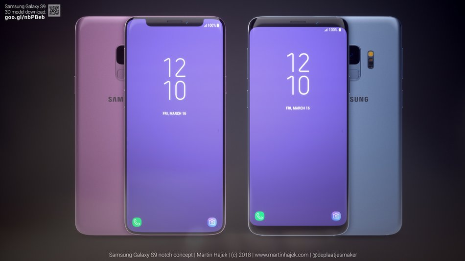 samsung galaxy s9 so sieht das smartphone mit iphone x. Black Bedroom Furniture Sets. Home Design Ideas