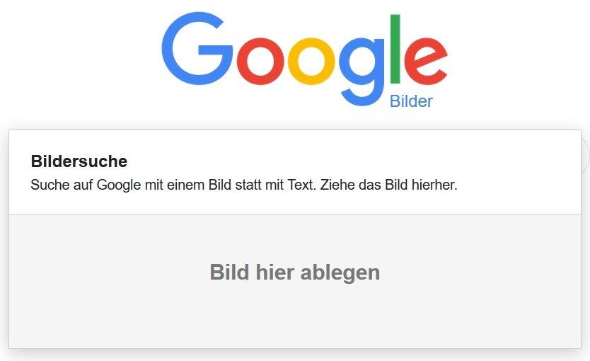 Google Bilder-Rückwärtssuche per Drag & Drop