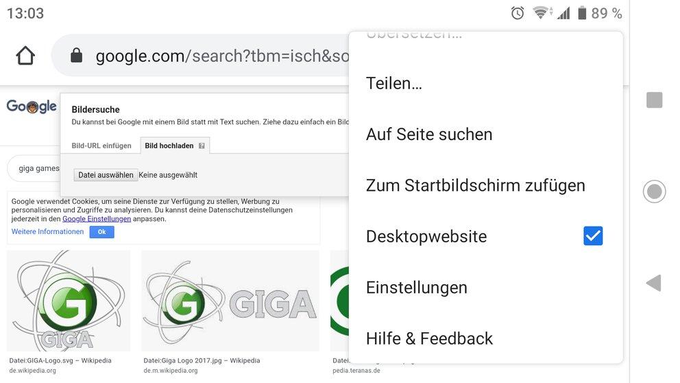 Google Rückwärts-Bildersuche Android