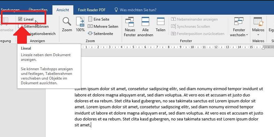 Word Lineal Einblenden Und Verwenden So Gehts Giga