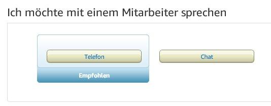 Amazon Kontakt Chat