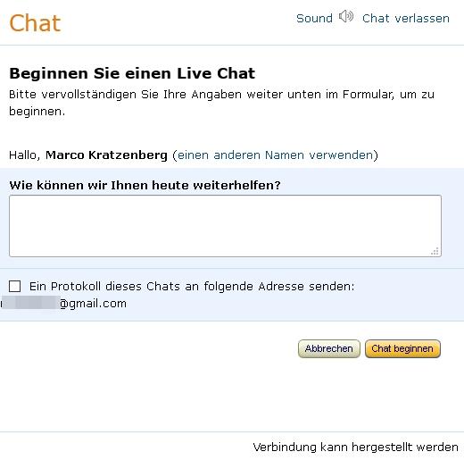Kundenservice Nummer