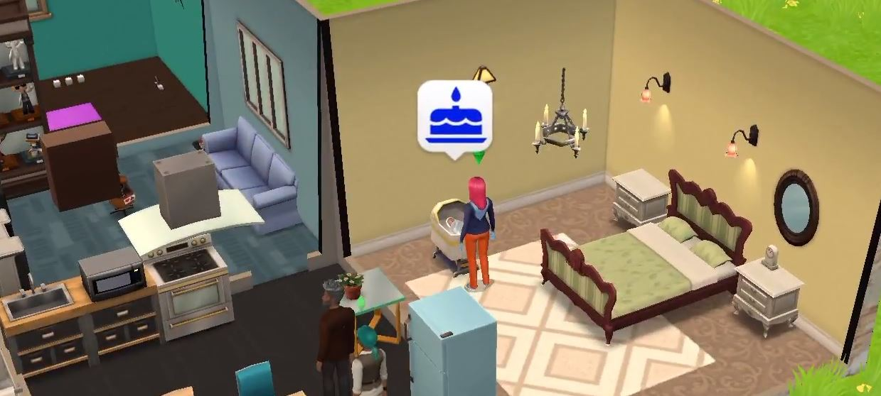 die sims mobile baby bekommen und nachwuchs aufziehen so geht s giga. Black Bedroom Furniture Sets. Home Design Ideas