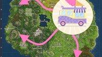 Fortnite - Battle Royale: Besucht 5 Eiswagen - Fundorte und Video (Woche 4)