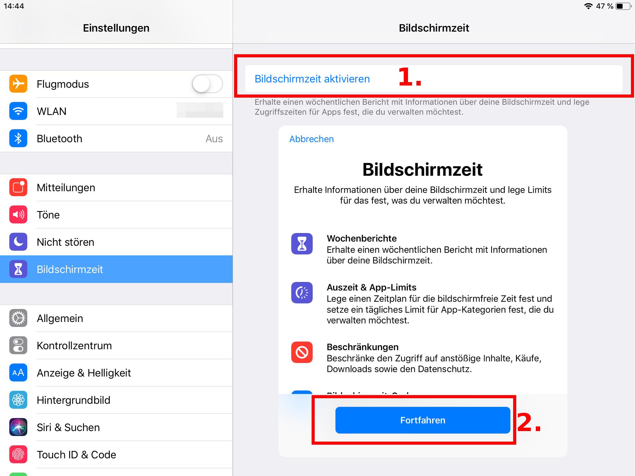 iphone se in app käufe deaktivieren