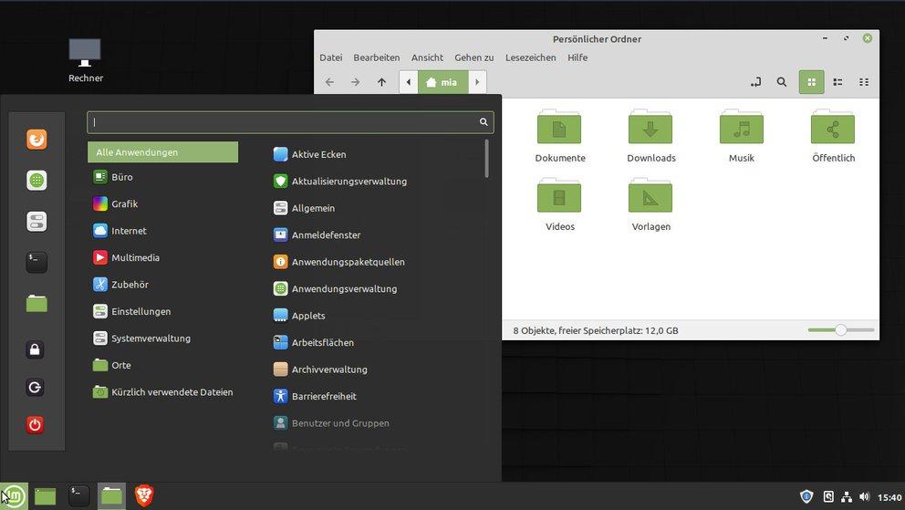 So sieht Linux Mint 19.3 aus. Bild: GIGA