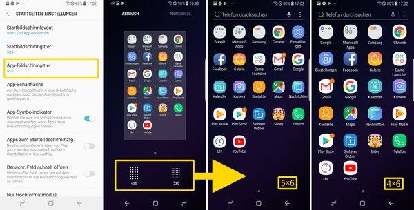 Einstellung Samsung S9 Plus