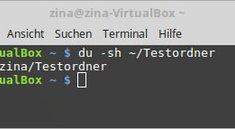 Linux: folder size (Verzeichnisgröße anzeigen per Terminal-Befehl)