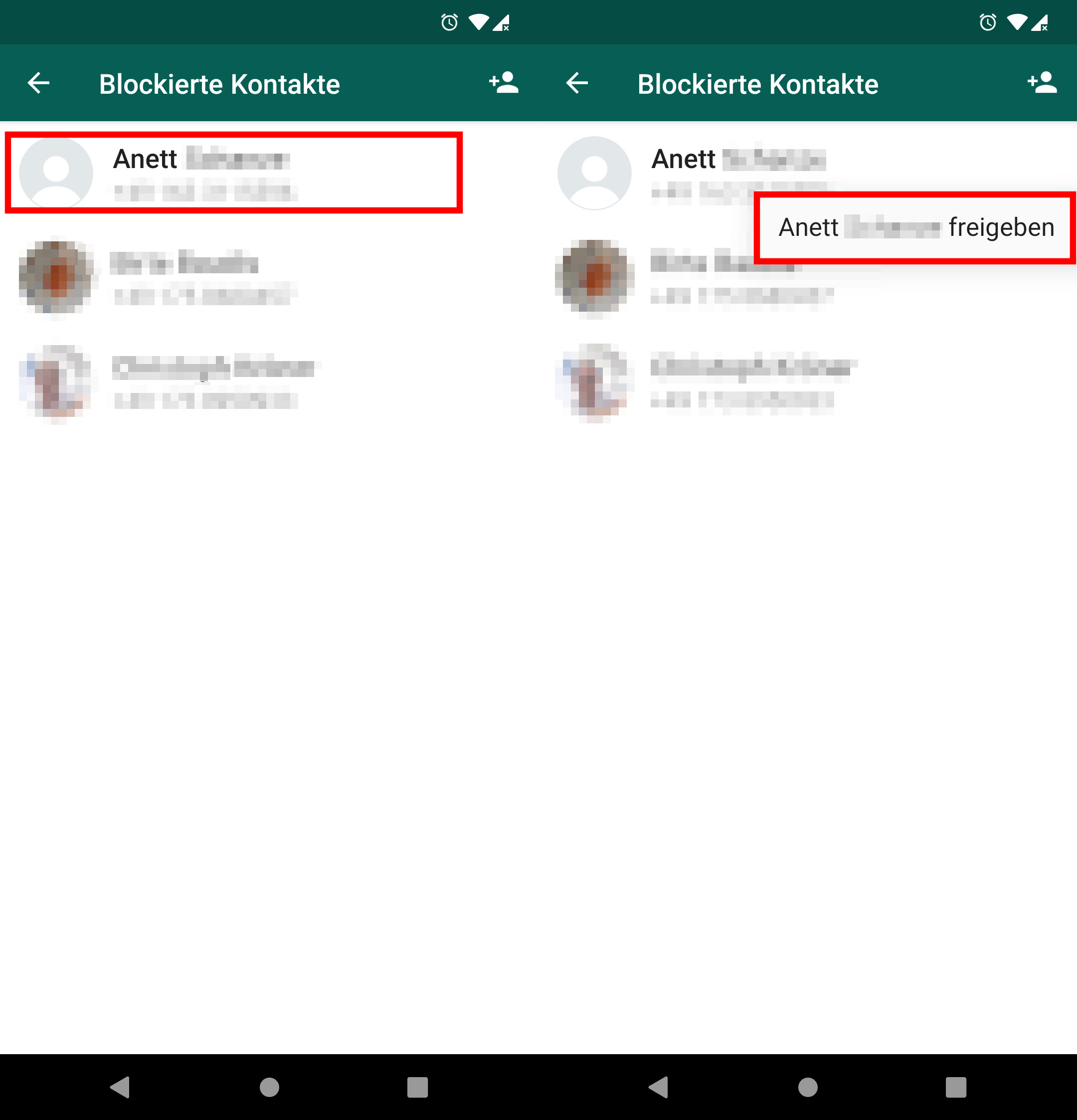 Whatsapp blockierte kontakte sehen profilbild