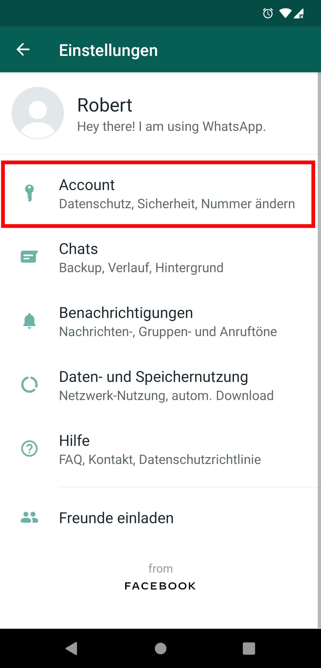 Whatsapp blockierliste löschen