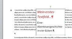 In Word ein Textfeld einfügen – so geht's