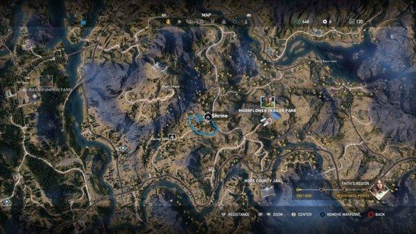 Far Cry 5 Schreine Zerstören Karte.Far Cry 5 Alle Schreine Fundorte Für Falsche Götzen