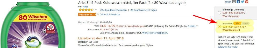 Amazon Spar Abo Trick