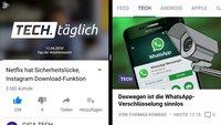 Android Split-Screen-Modus: So nutzt ihr 2 Apps gleichzeitig