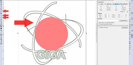 Ausschneiden simpler Formen in Inkscape (bebilderte Anleitung)
