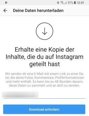 Instagram-App-Datenabruf