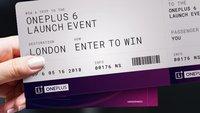 OnePlus 6: So kann man kostenlos an der Präsentation in London teilnehmen