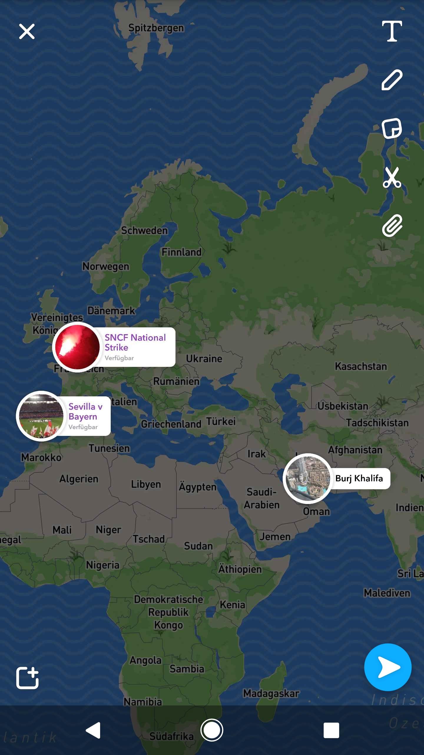 Snapchat Karte.Snapchat Map Explore Die Karte Zeigt Aktivitäten Eurer Freunde An