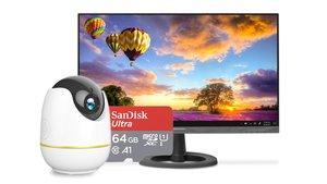 Amazon-Angebote: Amazon-Echo-Show-Kamera, microSDXC-Speicherkarte, QHD-Monitor