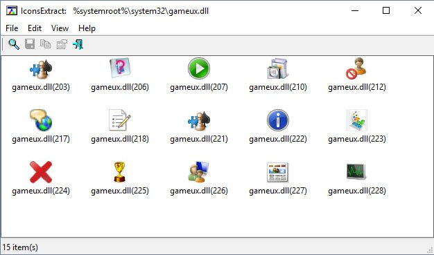 Das Tool IconsExtract extrahiert Icons aus Dateien.