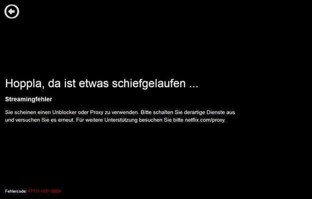 """Lösung: Netflix-Fehler """"Sie scheinen einen Proxy zu verwenden."""""""