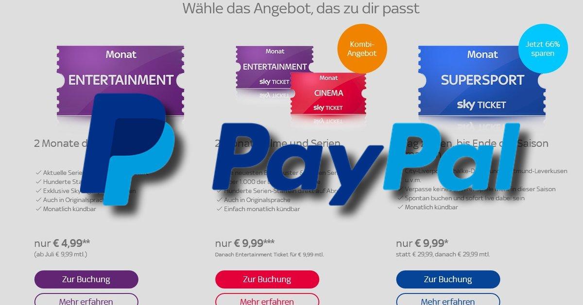 Paypal Sky Angebot