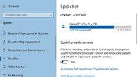 Windows 10: Speicheroptimierung deaktivieren & aktivieren (Storage Sense)