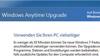 Windows 7: Anytime Upgrade durchführen – so geht's