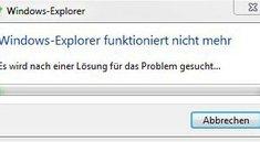 Lösung: Windows-Explorer stürzt ständig ab