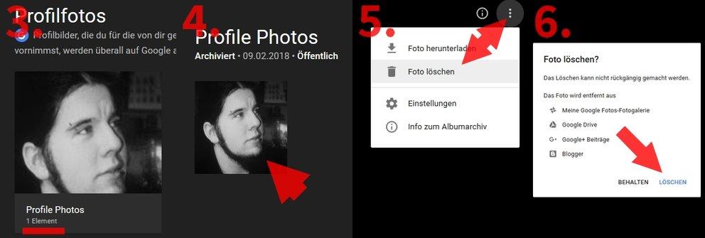Google: Profilbild löschen oder ändern - so gehts