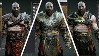God of War: Alle Rüstungen - Fundorte, Bilder und Werte
