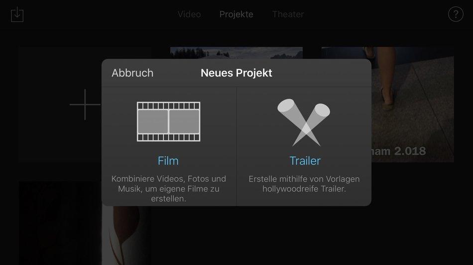 iMovie-Projekt anlegen - GIGA